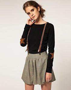 ASOS star elbow patches