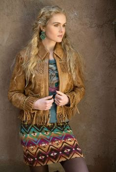 Double D Ranchwear Distressed Brown Maverick Jacket