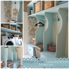 Some awesome details in this laundry room! Atta Girl Says | Home Tour | http://www.attagirlsays.com