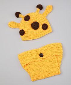 Giraffe Beanie & Diaper Cover