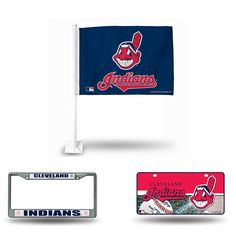 Cleveland Indians MLB 3 Piece Auto Fan Pack