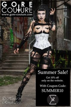 #Summer #Sale http://www.gore-couture.com  get 10% off with code SUMMER10 #corsetry #altcouture photo by @HouseOfRoughArt