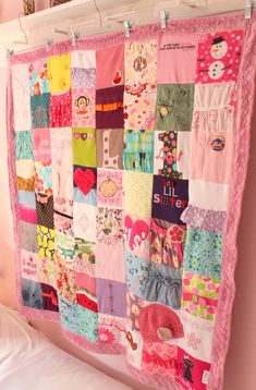 A CUSTOM memory blanket that is created from your babys clothes. Instead of storing all those clothes in a box in the attic, I will turn them into