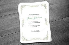 Wedding Invitation Template @creativework247