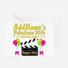 50TH BIRTHDAY Greeting Card Dazzle, sparkle and shine with our fabulous 50th birthday Tees and gifts.http://www.cafepress.com/jlporiginals/6515976 #50yearsold #Happy50thbirthday #50thbirthdaygift #Happy50th #Personalized50th