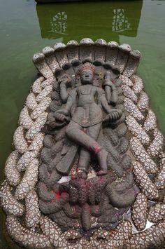 Mahavishnu in Yoga Nidra Yoga Nidra, Arte Krishna, Indian Temple Architecture, Shiva Shakti, Shiva Hindu, Durga Maa, Hindu Temple, Hanuman, Spiritual Images