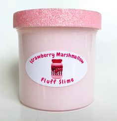 Homemade Strawberry Marshmallow Fluff SCENTED Fluffy Slime 6oz