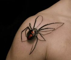Realistic 3d Butterfly Tattoos 3d Realistic Spider Tattoo on