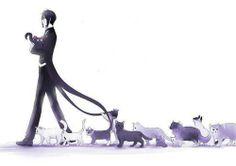 Sebas-chan and his cats