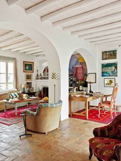 Interior design│Moorish house in Seville Sweet Home, Interior Architecture, Interior Design, Design Case, House Colors, My Dream Home, Interior Inspiration, Living Spaces, Living Room