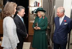 Prince Charles and Camilla, Duchess of Cornwall attended the official welcome ceremony for the Colombian state visit at Horse Guards Parade on Nov. 1, 2016 in London. Colombian President Juan Manuel Santos, who won this year's Nobel Peace Prize for his efforts to implement a peace deal with FARC rebels, begins a state visit to Britain that includes a trip to once conflict-ridden Northern Ireland.