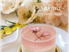 桜ホワイトレアチーズ♪の画像