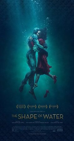 Directed by Guillermo del Toro.  With Sally Hawkins, Octavia Spencer, Michael Shannon, Doug Jones. At a top secret research facility in the 1960s, a lonely janitor forms a unique relationship with an amphibious creature that is being held in captivity.