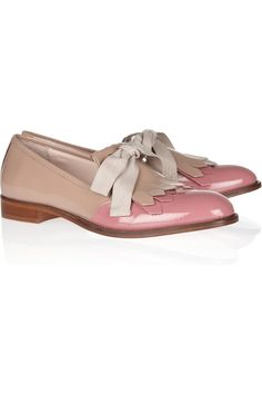 RED Valentino | Two-tone patent-leather loafers | NET-A-PORTER.COM