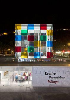 Provisional Pompidou Center by Javier Perez de la Fuente and Juan Antonio Marin Malavé in Malaga, Spain