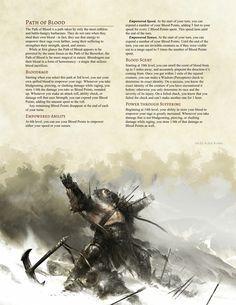 Path of Blood Barbarian by Jonoman3000
