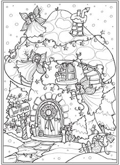 Welcome to Dover Publications Colouring Pages, Adult Coloring Pages, Coloring Sheets, Free Coloring, Coloring Books, Open Image, Dover Publications, Christmas Coloring Pages, Christmas Colors