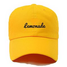 Lemonade,When life hands you Lemons,,Formation Tee, #lemonade ,Queen... (£18) ❤ liked on Polyvore featuring accessories, hats, caps, embroidered hats, embroidered caps, cap hats and embroidery hats