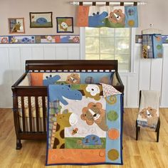 $160.75-$195.00 Baby Sumersault Peek-A-Boo 4 Piece Crib Set, Earth Tones - PEK00  Pictured in comforter only Features: -Adorable applique and embroidered animals peeking into the comforter.-Palette in rich tones of blue, rust, navy, green, brown in textured fabrics include corduroy, velvet, twill, boucle, micro suede, jersey.-All accessories are appliqu d and embroidered with rich textured fabri ...