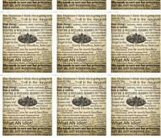 Harry Potter and the Philosophers Stone Quotes fabric by keleigh on Spoonflower - custom fabric.  Wallpaper.  Harry Freaking Potter wallpaper.