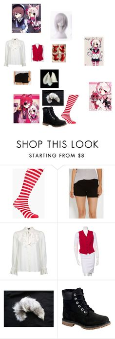 """""""Fnaf mangle"""" by blackanimewolf on Polyvore featuring Boohoo, maurices, Topshop, Ralph Lauren Purple Label and Timberland"""