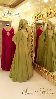 Outstanding Long Luxurious Gown with Hijab for Formal Looks – Girls Hijab Style & Hijab Fashion Ideas Modern Hijab Fashion, Islamic Fashion, Abaya Fashion, Muslim Fashion, Hijab Abaya, Hijab Gown, Modest Dresses, Stylish Dresses, Muslim Gown