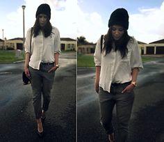 Old Khaki White Shirt, Cotton On Bag, Michael Kors Watch