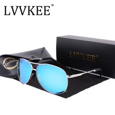 2018 LVVKEE New Luxury Brand Goggles sport HD Polarized Men Driver Mirror sun glasses men Gafas aviator eyeglasses male UV400