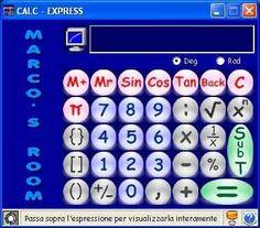 Software Calc-Express. Calcolatrice scientifica a nastro e multi-funzioni ideale per le espressioni