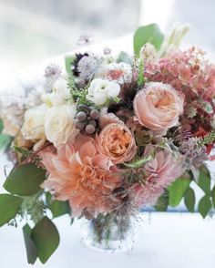 """See the """"Rose and Hydrangea Bouquet"""" in our Classic Wedding Bouquets gallery"""
