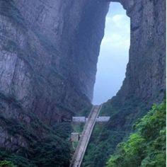 Heavens stairs. Tian men Shan, china