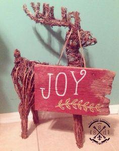 JOY christmas sign custom made by Sign, Sealed & Delivered. #custom #christmas #joy #family #handmade #rustic #barnwood #glitter #sign #handpainted