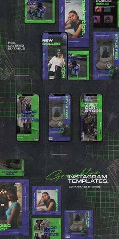 perfect to use for fashion feed IG Game Design, Graphisches Design, Layout Design, Blog Design, Design Ideas, Instagram Design, Instagram Story Template, Instagram Story Ideas, Social Media Template