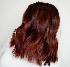 Burgundy Brown - 40 Red Hair Color Ideas – Bright and Light Red, Amber Waves, Ginger Hair Color - The Trending Hairstyle Brown Hair With Blonde Highlights, Reddish Brown Hair, Dark Hair, Dark Orange Hair, Dark Brown, Color Highlights, Hair Highlights, Red Hair Color, Brown Hair Colors