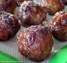 Welcome Home Blog: Pineapple Teriyaki Meatballs