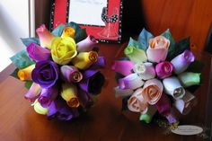 wooden rose bouquets