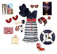 """""""July 4th party"""" by deborah-518 ❤ liked on Polyvore featuring Prada, OPI, Johanna Ortiz, RED Valentino, Yves Saint Laurent, Katerina Makriyianni, Gucci, Jacquie Aiche, Oscar de la Renta and Kate Spade"""