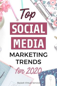 Social Media trends and outlook for 2020 Social Media Trends, Social Media Planner, Social Media Plattformen, Social Media Marketing Business, Facebook Marketing, Content Marketing, Online Marketing, Affiliate Marketing, Online Business