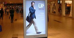 Mall marketing media reaches consumers in a purchasing state of mind, often as the last opportunity before the point of purchase. Digital Kiosk, Digital Signage, Swipe Card, Point Of Purchase, Advertising, Ads, Multi Touch, Banner Design, New Look