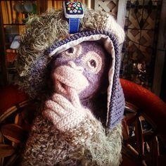 #今日のオラン はいちびり(おふざけさん) Orang is full of mischief ;)    #あみぐるみ #あみぐるみ作家 #リュミエナ #かぎ針編み #編み物 #ニット #オランウータン #森の人 #毛糸 #オラン藤田 #amigurumi #crochet #knitting #instaamigurumi  #instacrochet #animal #orangutan #lumiena  #crochetdoll #crochetanimal  #OrangFujita #amiringo #bonworks #amiringowatch by lumiena_amigurumi