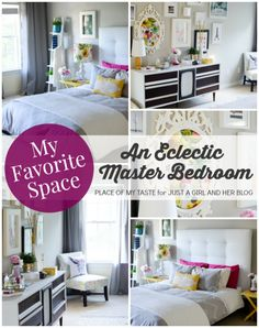 An Eclectic Master Bedroom | Place of My Taste for Just a Girl and Her Blog