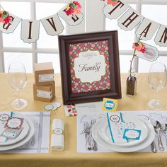 DIY...Thanksgiving printable party.  Feast of Thanks digital download by Stampin' Up! Order Online: essentials.stampinup.net