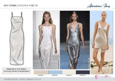 Discover the new SS18 DRESS development designs by 5forecaStore Fashion trend forecasting.