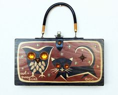 Enid Collins 1966 Owl & Pussycat Box Bag by niwotARTgallery, SOLD