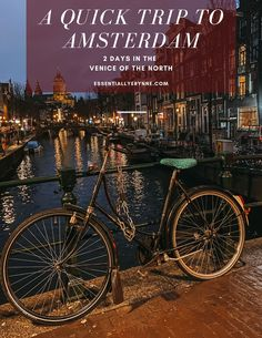 After 10 days in Ireland, we decided that we'd spend a quick 2 days exploring the 'Venice of the North', so we decided to travel over to Amsterdam!