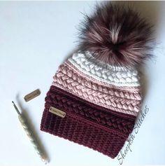 Crochet Gifts, Hand Crochet, Crochet Stitch, Knit Crochet, Patron Crochet, Easy Crochet Hat, Crochet Winter Hats, Crochet Beanie Pattern, Crochet Patterns