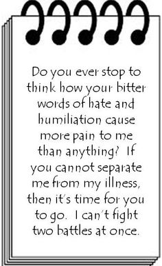 oh wow. I am going to save this and the next time someone really hits this nerve, im simply going to send them this, rather than the stupid endless arguements! #bipolar