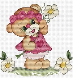 1 million+ Stunning Free Images to Use Anywhere Baby Cross Stitch Patterns, Cute Cross Stitch, Cross Stitch Animals, Cross Stitch Kits, Cross Stitch Designs, Cross Stitching, Cross Stitch Embroidery, Broderie Simple, Christmas Embroidery Patterns