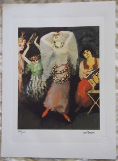 Kees Van Dongeni Hand Pressed Print by ValueVintagePrints on Etsy