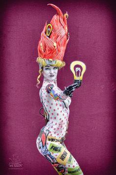 WBF 2014 | SFX Bodypainting Qualification 'Pop Art'  Photography: Atelier 'et Lux', Artist ID211: Irina Shmeleva - Russia, Model: Daria Rozanova